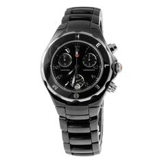 Michele Tahitian BLACK Ceramic watch mww12A000006 MSRP $1195