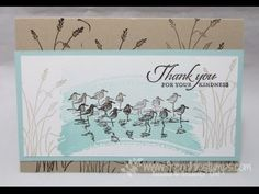 Frenchie stamp on the Go. for more quick card check www.frenchiestamps.com Stamp set: Work of Art, Wetland