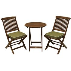 Outdoor Interiors 3 Piece Bistro Set with Cushion & Reviews | Wayfair