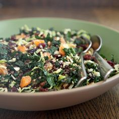 A Gloriously Green Brussels Sprout, Kale, and Lentil Salad