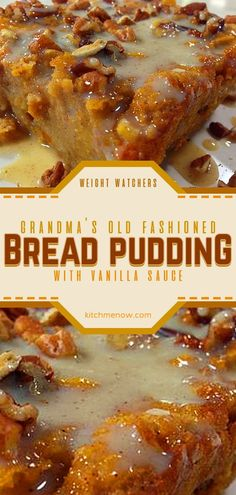 - Omas altmodischer Brotpudding mit Vanillesauce Grandmas Old-Fashioned Bread Pudding with Vanilla Sauce Bread Pudding Recipe With Vanilla Sauce, Bread Pudding Sauce, Keto Pudding, Avocado Pudding, Chia Pudding, Old Fashion Bread Pudding Recipe, Best Pudding Recipe, Brioche Bread Pudding, Bread Machine Recipes
