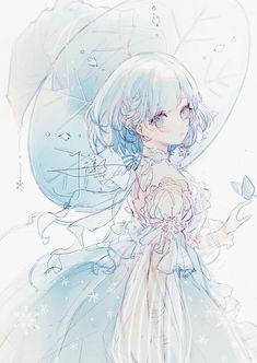 Manga Kawaii, Chica Anime Manga, Kawaii Anime Girl, Anime Chibi, Cool Anime Girl, Pretty Anime Girl, Anime Art Girl, Beautiful Anime Art, Anime Girl Crying