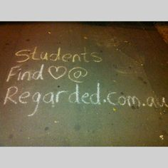 Advertisement written in chalk on the sidewalks. Sydney, NSW - Australia