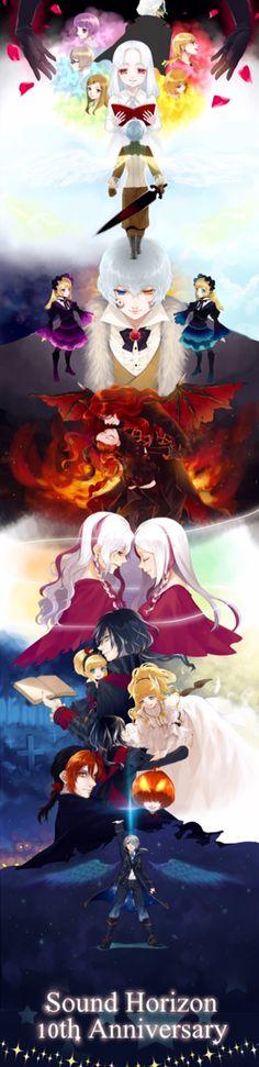 Artist: Shizutani | Sound Horizon Vocaloid, Anime Girls, Anime Art, Collections, Pasta, Illustrations, Artists, Animal, Awesome