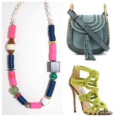 #tgif #weekendstyle #weekendvibes #colorpop #chloe #jimmychoo #empirestatefinery chloe purse styled, jimmy choo shoes styled. layering necklaces, statement, outfit, chic, style, beaded, boho chunky @jimmychooworld @chloefashion