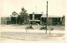 Ginger Blue Lodge, McDonald County, Missouri, Vintage Postcard, Historic Photo