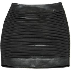 Pre-owned Balmain Leather Mini Skirt ($611) ❤ liked on Polyvore featuring skirts, mini skirts, black and women clothing skirts