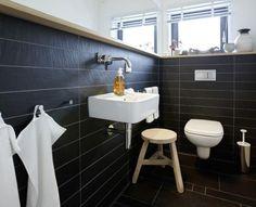 Schieferoptik im Gäste-WC