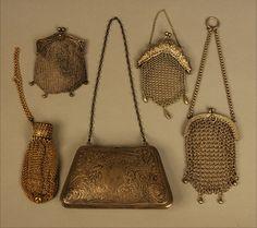 A group of circa 1895-1910 handbags.