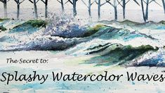 Watercolor Lesson, Watercolor Wave, Watercolor Brushes, Waves, Painting, Outdoor, Outdoors, Painting Art, Paintings