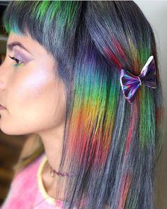 Hairway to Heaven Lady Gaga Makeup, Oil Slick Hair, Opal Hair, Bright Hair Colors, Colorful Hair, Hair Heaven, Hair Remedies, Mermaid Hair, Rainbow Hair