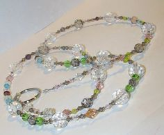 Multicolored Faceted Glass Beaded Eyeglass Chain ID by nonie615, $15.00