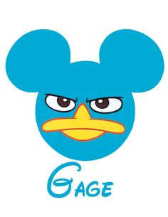 Custom Personalized Disney Mickey Agent P Perry Iron on Transfer Decal(iron on transfer, not digital download) on Etsy, $5.00