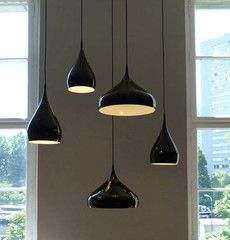 Benjamin Hubert: Spinning teardrop ceiling light