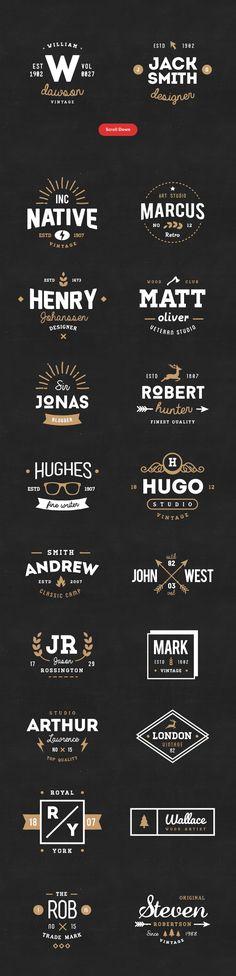 FREE this week! 20 Vintage Logos & Badges Vol 01