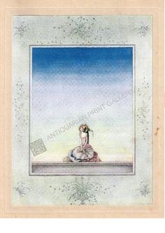 Children Illustrators Kay Nielsen Flying Trunk Andersen Antique Print #Gravure
