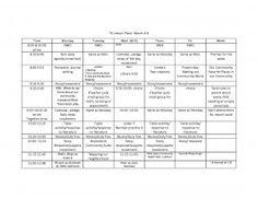 Transitional Kindergarten Schedule