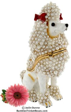 Trinket Box: New White PoodleTrinket Box