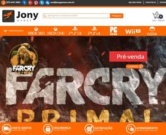 Conheça o novo site da Jony Games www.jonygames.com.br  Contato: (37) 4141-2053 #Xboxone#Jogos#PS4br#XboxoneBr#PS4