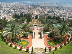 The Bahai Gardens of Haifa, Israel