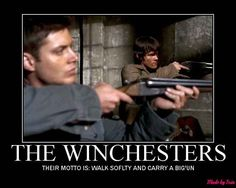 Dean and Sam Winchester from the tv show supernatural. They are so cute!