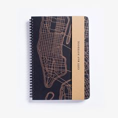 New York City Map Notebook from Hartford Prints