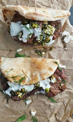 Put a Ring on These Lamb Burger Pita Pockets Before It's Too Late