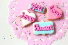LOVE! icing cookies