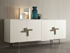 Lacquered sideboard with doors SLIM Slim Collection by Dall'Agnese | design Imago Design, Massimo Rosa