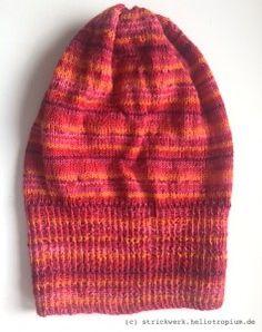 Beanie aus vierfädiger Sockenwolle
