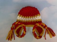 Kansas City Chiefs Hat Football Team Hat by RevelynsHandcrafts, $14.50