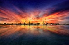 'Maritime port of Viana do Castelo' by AntonioBernardino Photo Competition, Daily Photo, My Images, Northern Lights, Sunrise, Clouds, City, Travel, Sunsets