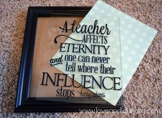 Good idea!  If you don't want the letters directly on the wall use a frame!