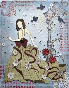 "Mixed Media Canvas ""Winter"" {DT work for Heartfelt Creations} by Emilia van den Heuvel"