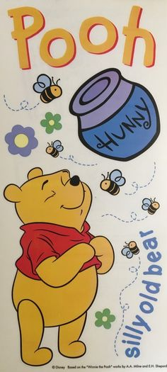 $2.19 - Sandylion Jumbo Stickers Disney Winnie The Pooh Hunny Lignin & Acid-Free #ebay #Home & Garden