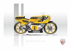 '79 Yamaha XS 500 tuned like TZ 750 #bckustoms #yamaha #Roberts #yldconcepts