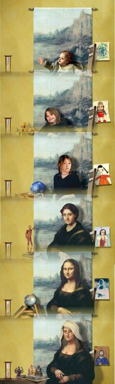 Daniel Lienhard - Mona Lisa over the years (serie de 6 imágenes)