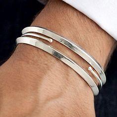 silver bracelet Relógios Pulseira, Prata, Anel Masculino, Joalheria, Joias  Masculinas, Pulseiras 938f3aa17c