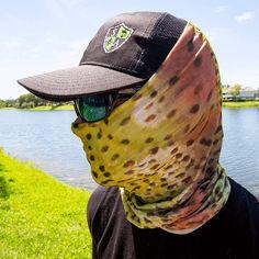 Rainbow Trout Multi Purpose Face Shield Balaclava Bandana Neck Gaiter Sun Mask Neckerchief by VaderUnlimited on Etsy