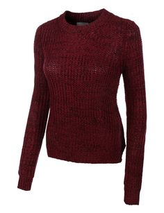 LE3NO Womens Marble Loose Knit Long Sleeve Pullover Sweater