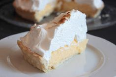 Tarta de limón - Lemon meringue pie