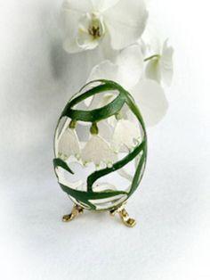 Goose Shell Egg Carved Unique Gift Spring от DreamPresents на Etsy