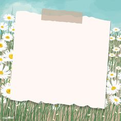 Watercolor Wallpaper Phone, Framed Wallpaper, Galaxy Wallpaper, Daisy Background, Background Patterns, Minimal Drawings, Note Doodles, Daisy Field, Instagram Frame Template