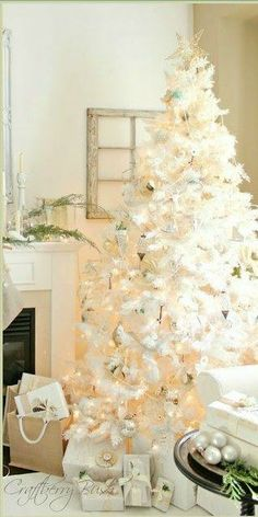 10 unusual Christmas trees…I love this white!