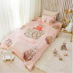 Korean children bedding C215 super cute cake pattern little princess pink bedding Piece - Taobao