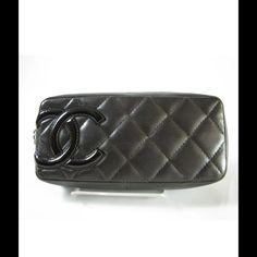 Chanel lamb skin makeup bag Chocolate brown Chanel lambskin cosmetic case. Hard to find cosmetic case. L 6.30 x H 2.75 D 1.57 not for trade has some ware not for trade CHANEL Bags Cosmetic Bags & Cases