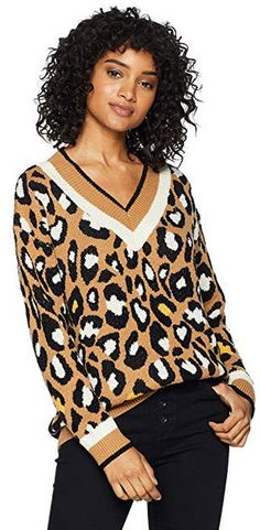 ba2aa24255d Cable Stitch Womens Animal Print Jacquard Sweater camel Camel, Editorial  Fashion, Knitwear, Women's