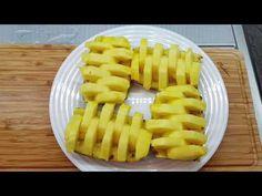 How to cut Pineapple 2 ways, easy! Cut Pineapple, Easy Youtube, 2 Way, Waffles, Mango, Plate, Homemade, Fruit, Breakfast