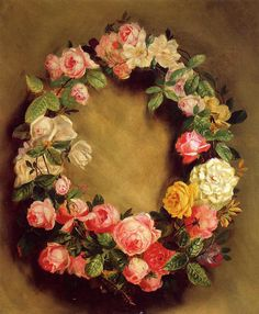 Crown Of Roses by Pierre Auguste Renoir Handmade oil painting reproduction on canvas for sale,We can offer Framed art,Wall Art,Gallery Wrap and Stretched Canvas,Choose from multiple sizes and frames at discount price. Pierre Auguste Renoir, Jean Renoir, Art Floral, August Renoir, Renoir Paintings, Watercolor Paintings, Art Gallery, Oil Painting Reproductions, French Artists