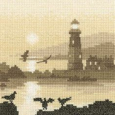 Guiding Light - Sepia Cross Stitch kit - Heritage Crafts